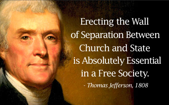 a history of thomas jeffersons wall of separation between church and state 1 in query xvii of notes on the state of virginia, jefferson clearly  thereof,' thus  building a wall of separation between church & state12.